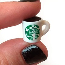 Miniature Cup of Coffee. Dollhouse Drinks Craft Supplies Cabochon Kawaii... - $3.96