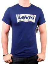 NEW NWT LEVI'S MEN'S PREMIUM CLASSIC GRAPHIC COTTON T-SHIRT SHIRT TEE BLUE