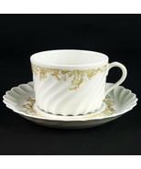 Haviland Limoges Ladore Cup & Saucer Set, Vintage Gold Decor Swirl Coffe... - $9.80
