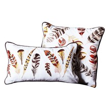 Two's Company Set of 2 Embroidered Feather Deco... - $109.00