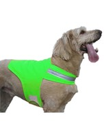 DOG NOT GONE Reflective Dog Vest Tick & Insect Repelllent Green Small 25... - $20.50