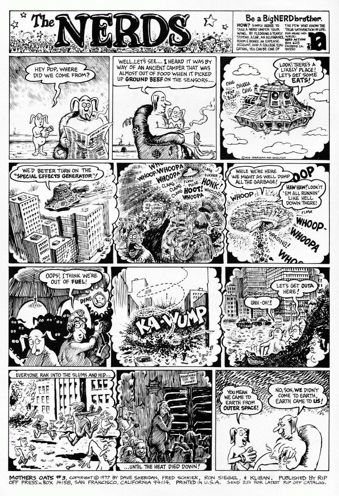 Mother's Oats 3, Sheridan, Schrier, Overland Vegetable Stagecoach, ROP 1976 - ob
