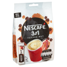 Nescafe TOFFEE NUT Latte instant coffee-10 portions -Made in UK -FREE SH... - $10.88