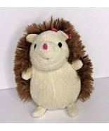 "Gund Mini Hedgehog Pink Bow Plush 4"" Brown SOft Toy - $16.39"