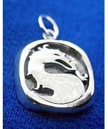 SALE Mortal Kombat solid Sterling Silver Charm Pendant MK X Jewelry - $19.07