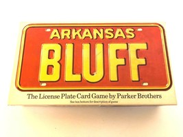 License Plate Board Game Arkansas Bluff Card Parker Brothers 1975 Complete - $19.99