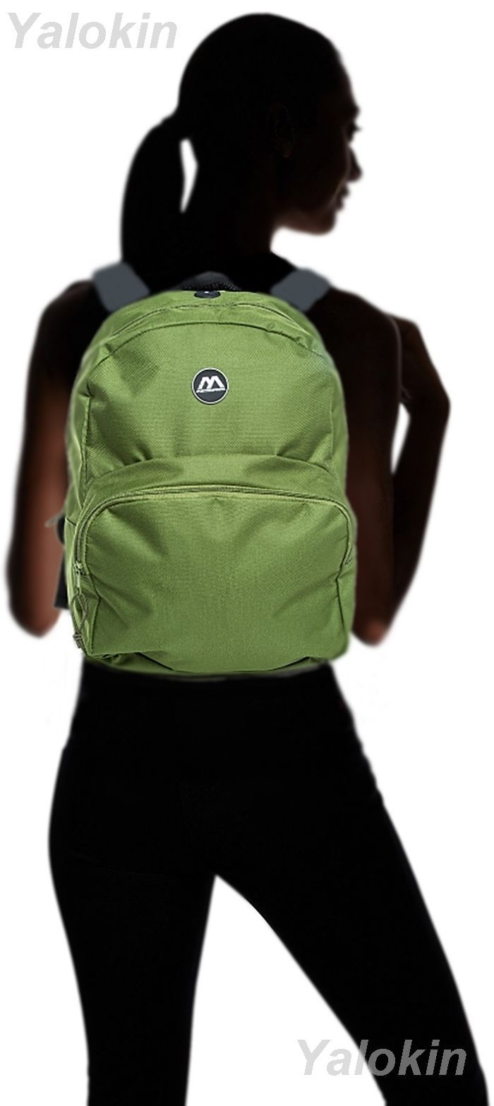 NEW Green Lightweight Unisex Compact Size Fashion Backpack Shoulder Book Bag