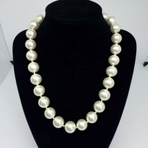 Vintage White Faux Pearl Bead Statement Necklace Fashion Choker Costume ... - $8.97