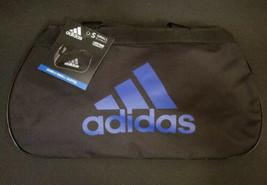 Adidas Diablo II New Black/Blue Small Duffel Bag Gym Bag !! - $22.77