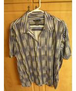 Kenneth Cole 92% Polyester & 18% Spandex Men's XL Botton Down Shirt - $9.14