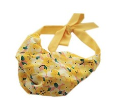 Vigour Yellow Strap Headband Lace Up Floral Print Hair Band