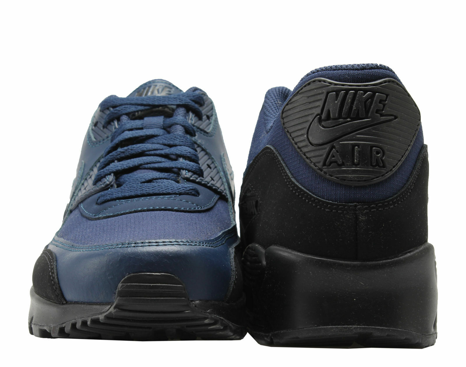 Nike Air Max 90 Essential Sneakers Black Midnight Navy Blue Trainers AJ1285-007