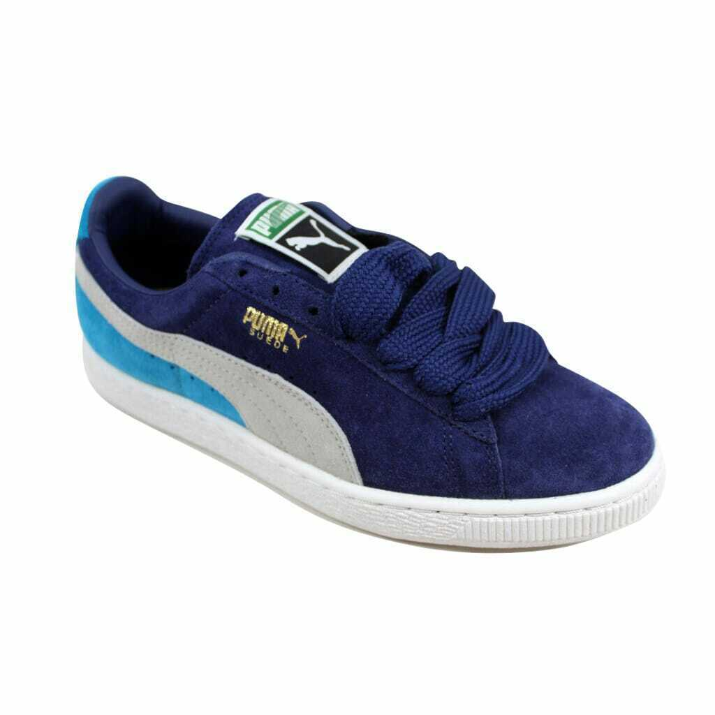 Puma Suede Classic Eco Medieval/Gray-Vivid Blue  Men's 352634 42 Size 6 Medium