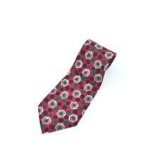 Robert Talbott Studio Red Blue Green Gray Dots Hexagons Silk Tie Necktie - $11.87