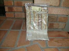Longaberger Medium Wash Day Basket Botanical Fields Stripe Fabric OE Lin... - $32.62