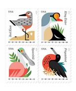 2015 35c Coastal Birds, Postcard, Block of 4 Scott 4991-94 Mint F/VF NH - $2.94