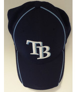 TAMPA BAY RAYS New Era 39Thirty Baseball Cap Navy and Blue Logo Sz Small... - $16.69