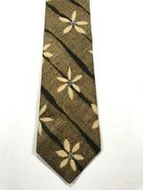 Structure Silk Men's Necktie Tie Brown Blue Floral - $19.99