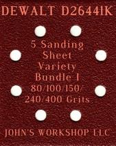DEWALT D26441K - 80/100/150/240/400 Grits - 5 Sandpaper Variety Bundle I - $7.53