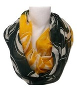 GREEN BAY PACKERS INFINITY SCARF FOOTBALL NFL OFFICIALLY LICENSED NECK S... - $14.49