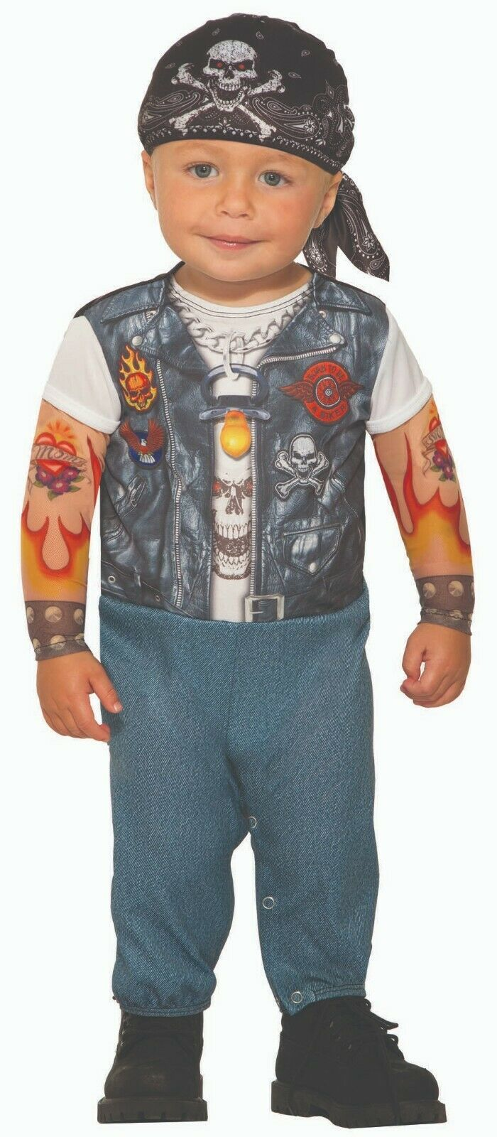Primary image for Forum Novelties Wild Child Tattooed Biker Toddler Infant Halloween Costume 81934