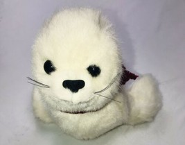 "Vintage Applause White Baby Seal Stuffed Animal 9"" Plush Toy - $29.69"