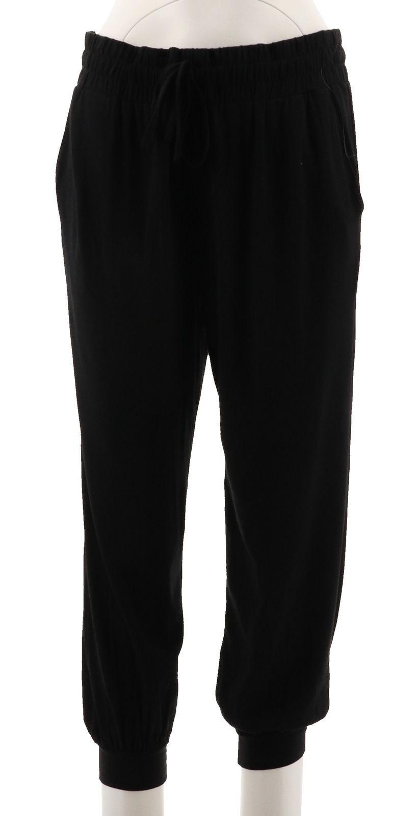 AnyBody Loungewear Cozy Knit Slim Pant Black S NEW A307835