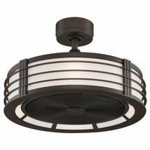 """Modern Farmhouse Beckwith Ceiling Fan with Light  Bronze 23.25"""" - $523.71"""