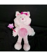 Fairy Princess Butterfly Cat Pink Wand Shiny Wings Plush Stuffed Animal ... - $19.79