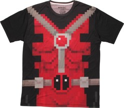 Marvel Comics Deadpool Pixel Suit Sublimated Mens T-Shirt - $12.86+