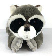 Plush Raccoon Bass Pro Shops Wildlife Artist 2004 Stuffed Animal Gray Ba... - $22.90
