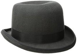 SCALA Men's Wool Felt Derby Hat, Charcoal, X-Large - $54.81