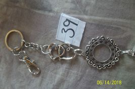 # purse jewelry silver color beauty keychain backpack filigree dangle charm #39 image 3