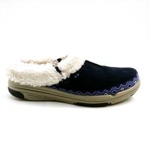 Ryka Womens Adventure Clog Shoes Suede Geometric Faux Fur Navy Blue 8.5W - $29.69