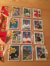 1989 TOPPS Rack Pack Lot Baseball Cards 38 Packs / 42 Cards EACH BRAND N... - $84.14