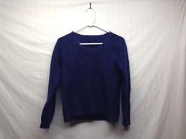 Ladies Vintage Navy Blue Shirt Sz M