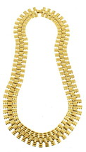 """VINTAGE MONET GOLD TONE SNAKE CHAIN LINKS NECKLACE FEELS GREAT ON! 18"""" - $87.74"""
