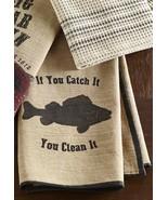 New Kitchen Bait N' Tackle Dishtowel Lake Cabin Home Decor  - $8.90