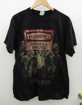 Mens THE WALKING DEAD Black T-Shirt Warning We Are All Infected ~ Large ... - $7.70