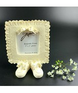 "2003 Stephan Enterprises Inc Lace Keepsake Frame with Bootie Stand -3""X ... - $30.00"