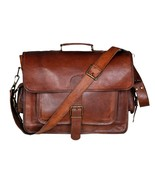 Handcrafted In India Genuine Leather Laptop Cum Office Briefcase For Men... - $58.41
