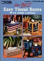 Our Best Easy Tissue Boxes in Plastic Canvas Schoolhouse Flowers Patriot... - $9.95
