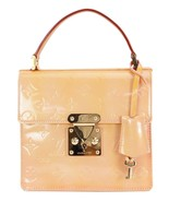 Auth LOUIS VUITTON Spring Street Pink (Orange) Vernis Tote Bag Purse #33010 - $495.00