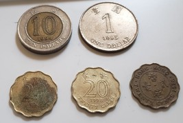 Lot of 5 Coins from Hong Kong - $4.95