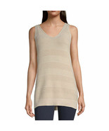 a.n.a. Women's V-Neck Sleeveless Pull Over Sweater LARGE Natural Color NEW - $22.76
