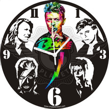 VINYL PLANET Wall Clock DAVID BOWIE Gift Home Record Unique Decor - $33.50