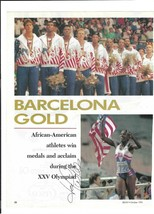 Jackie Joyner-Kersey Signed Magazine Page / Autographed Olympics - $16.48