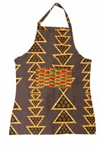 Fair Trade African Handcrafted  Apron - Orange Triangles - $22.76