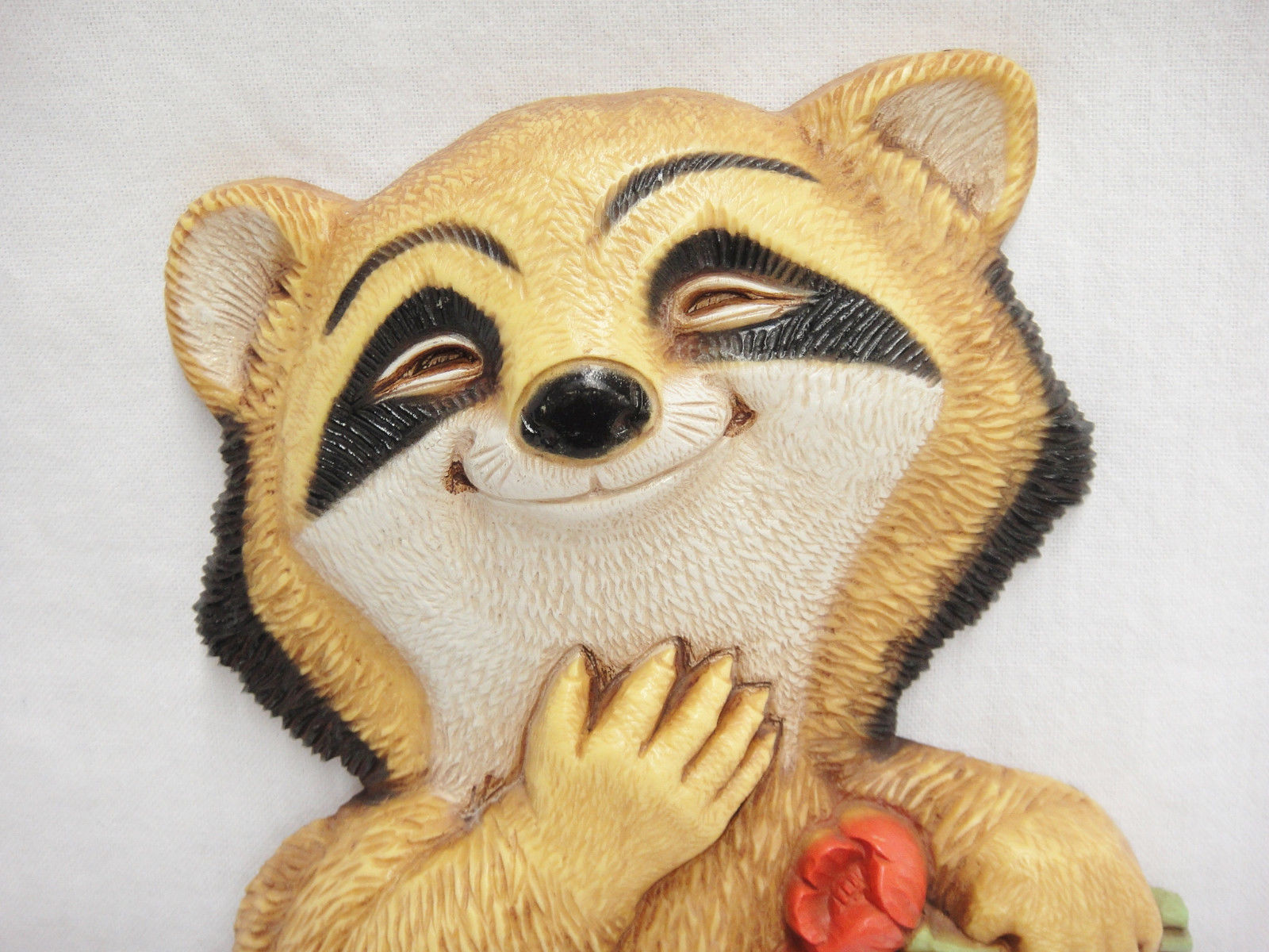 Vintage Homco Plastic Raccoon Plaque Wall and 11 similar items