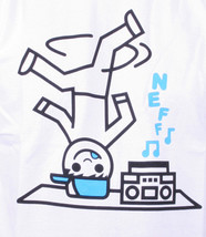 NEFF Men's White Ghetto Blaster 2 Boombox Break Dancing Graphic Tee NWT image 2